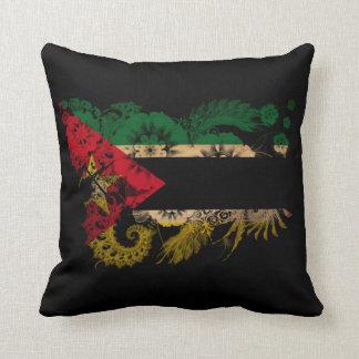 Mozambique Flag Throw Pillow