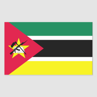 Mozambique Flag Rectangular Sticker