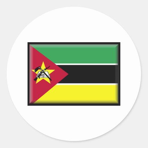 Mozambique Flag Stickers