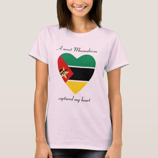 Mozambique Flag Sweetheart T-Shirt