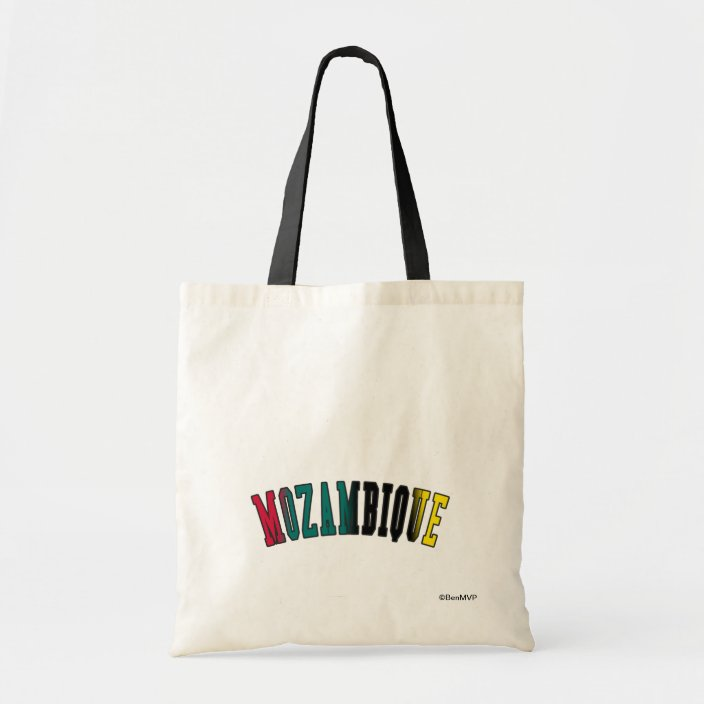 Mozambique in National Flag Colors Bag