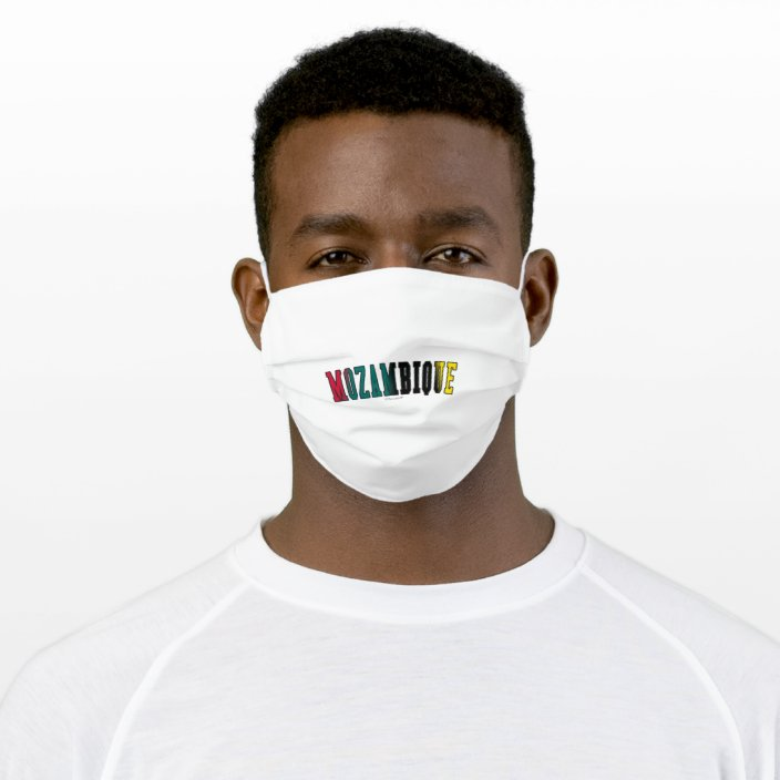 Mozambique in National Flag Colors Face Mask