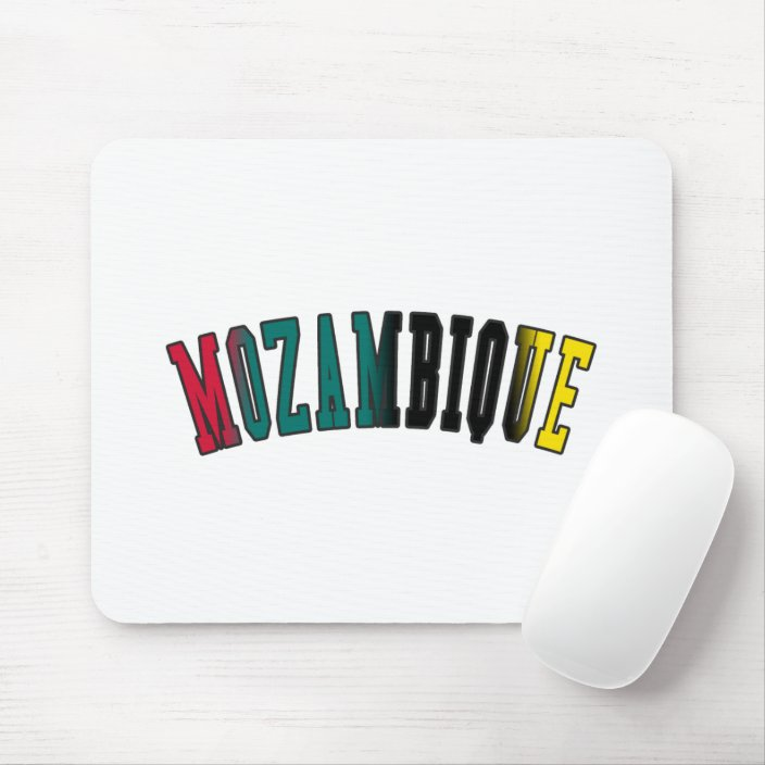 Mozambique in National Flag Colors Mouse Pad
