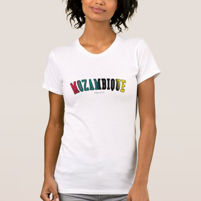 Mozambique in National Flag Colors T-shirt
