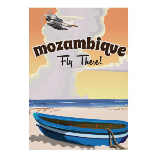 Mozambique travel poster print