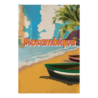 Mozambique Vintage vacation Poster