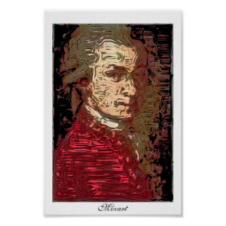 Mozart - A Digital Portrait Poster