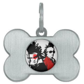 Mozart Beethoven Punk Pet ID Tag