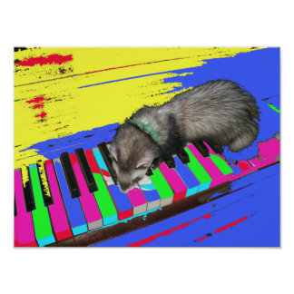 Mozart Eat Your Heart Out Ferret Poster