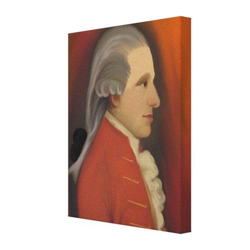 Mozart Impresiones En Lienzo Estiradas
