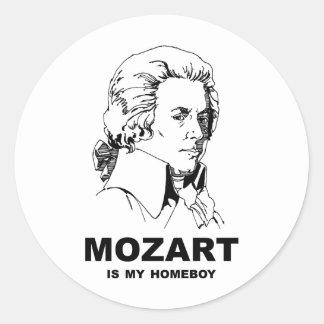 Mozart Is My Homeboy Classic Round Sticker