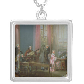 Mozart joven en el clavicordio grímpola