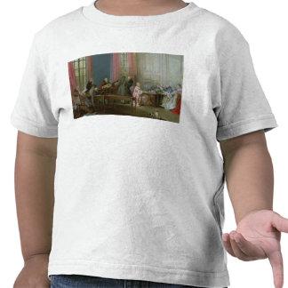 Mozart joven en el clavicordio camiseta