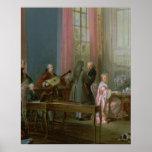 Mozart joven en el clavicordio póster
