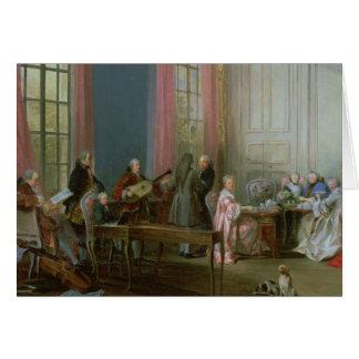 Mozart joven en el clavicordio tarjeta
