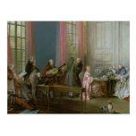 Mozart joven en el clavicordio tarjetas postales