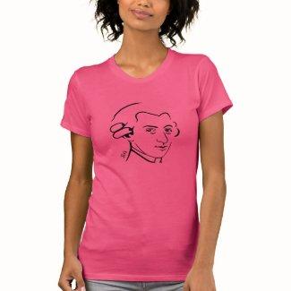 Mozart Ladies t-Shirt --Pink - Cotton Jersey