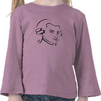 Mozart Long Sleeve Toddler T-Shirt -- Pk Bl Wh Gr