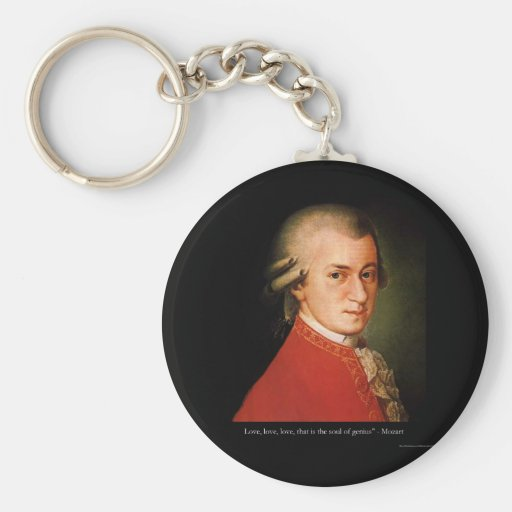 """Mozart """"Love Love Love"""" Quote Gifts & Collectibles Keychain"""