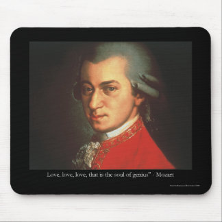 """Mozart """"Love Love Love"""" Quote Gifts & Collectibles Mousepad"""