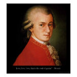 "Mozart ""Love Love Love"" Quote Poster Print"