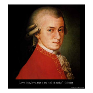"Mozart ""Love Love Love"" Quote Print"