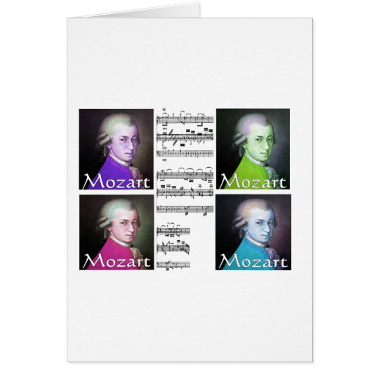 Mozart Lovers Gifts Card
