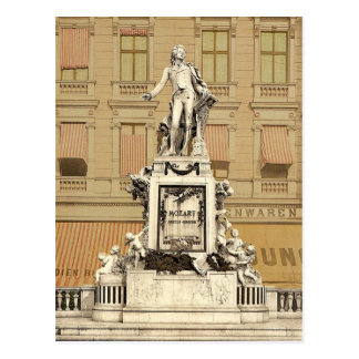 Mozart Monument, Vienna, Austro-Hungary magnificen Postcard
