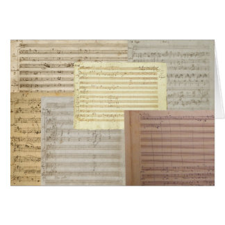 Mozart Music Manuscripts Card