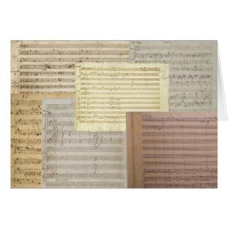 Mozart Music Manuscripts Greeting Card