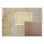 Mozart Music Manuscripts Greeting Cards