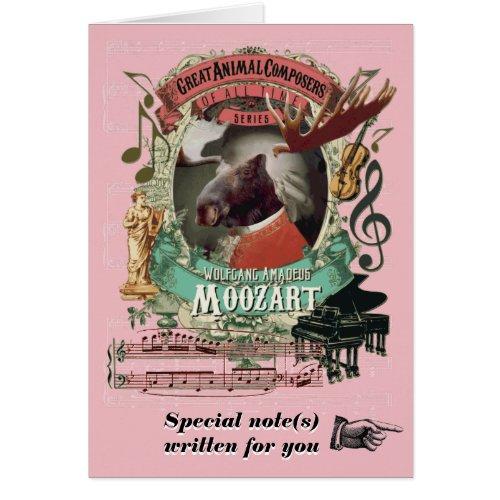 Mozart Parody Moozart Funny Animal Music Composer