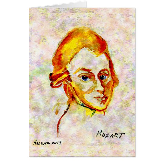 Mozart Portrait One Card
