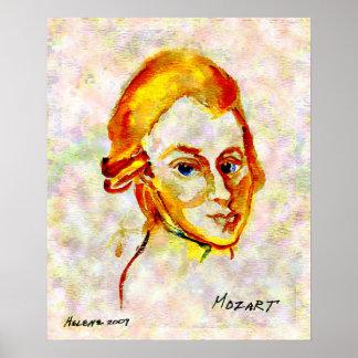 Mozart Portrait One Poster