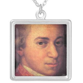 Mozart Square Pendant Necklace
