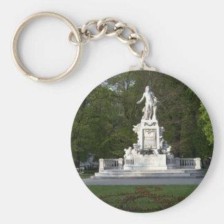 Mozart Statue Keychain