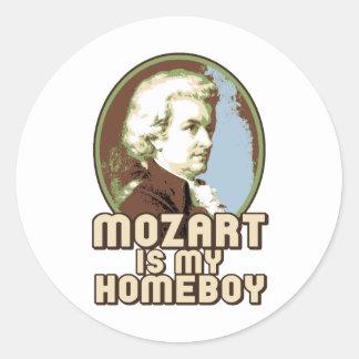 Mozart Classic Round Sticker