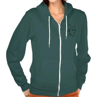 """""""Mozart Women's Zip Front Hooded Sweatshirt"""