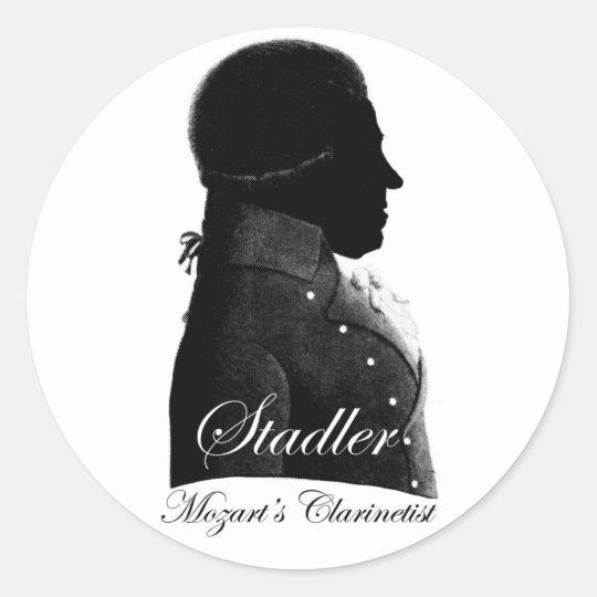 Mozart's Clarinetist Classic Round Sticker