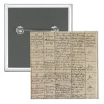 Mozart's entry in the baptismal register, 1756 2 inch square button