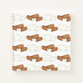 Mozzarella Cheese Sticks Junk Food Foodie Notebook