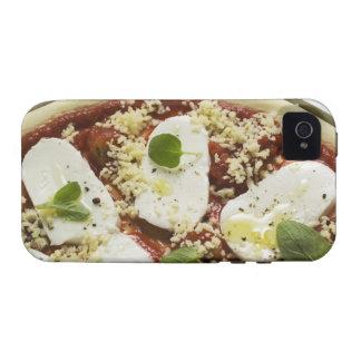 Mozzarella pizza (unbaked) vibe iPhone 4 cases