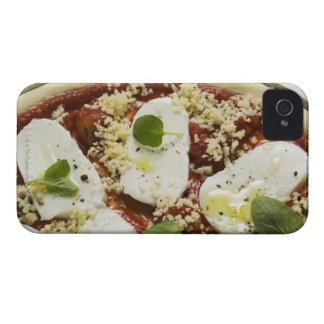 Mozzarella pizza (unbaked) iPhone 4 Case-Mate case