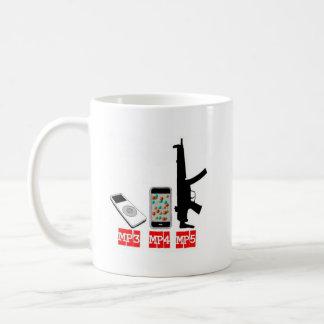 MP3 MP4 MP5 CLASSIC WHITE COFFEE MUG