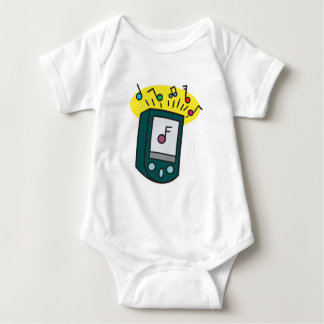 mp3 player design baby bodysuit