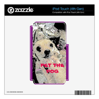 MP3 PLAYER PET THE DOG SKIN SKIN FOR iPod TOUCH 4G