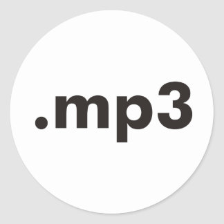 mp3 products & designs! classic round sticker
