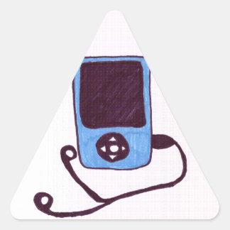 MP3 TRIANGLE STICKER