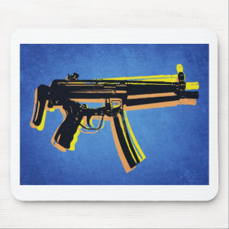 MP5 Sub Machine Gun on Blue Mouse Pad