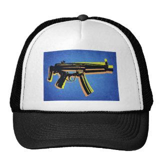 MP5 Sub Machine Gun on Blue Trucker Hat